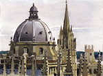 PRINTS | Skyline of Radcliffe Square as seen from the cupola of the Sheldonian Theatre