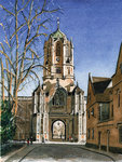 PRINTS | Tom Tower, Christ Church. Base of Tower by Cardinal Wolsey (1529)