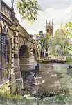 PRINTS | Magdalen Bridge across the River Cherwell from Greyhound Meadow